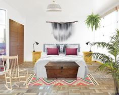 Dormitorio con estilo navajo
