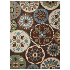 Maples Medallion Area Rug - Multi (5'x7')