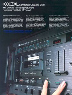 The mighty cassette......Nakamichi 1000ZXL