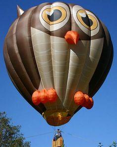 owl hot air balloon