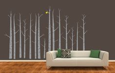 Hey, I found this really awesome Etsy listing at https://www.etsy.com/listing/166584953/birch-tree-forest-wall-decal-custom