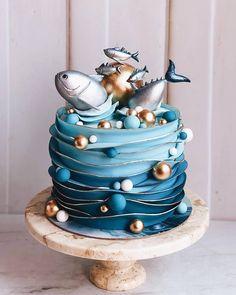 Stunning Cute Cartoon Birthday Cake Ideas - Page 5 of 5 - Vida Joven Gorgeous Cakes, Pretty Cakes, Cute Cakes, Amazing Cakes, Fancy Cakes, Pink Cakes, Cartoon Birthday Cake, Birthday Cakes, Ocean Cakes