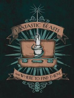 Fantastic Fantastic Beasts T-Shirts! Join Newt Scamander as he stops over in New York. Featuring designs based on the 2016 Harry Potter spinoff movie. Arte Do Harry Potter, Harry Potter Love, Harry Potter Universal, Harry Potter World, Ernst Hemingway, Wallpaper Harry Potter, Desenhos Harry Potter, Mischief Managed, Fandoms