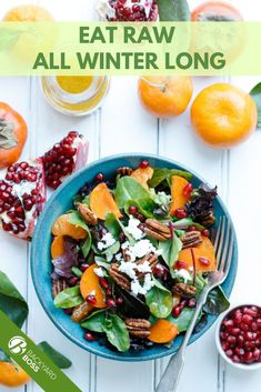 When you think of winter fare you usually imagine stews and roasts—hot, filling, comfort foods. But there's a lot of love to give to winter produce that can be delicious and quick without cooking at all. We've rounded up the best raw-food recipes featuring fruit, veg, grains and nuts that don't have to be cooked to make delicious snacks, breakfasts, meals and desserts. Check out our favorites! Best Side Dishes, Veggie Side Dishes, Healthy Side Dishes, Side Dish Recipes, Raw Food Recipes, Healthy Recipes, Citrus Recipes, Vegetable Recipes, Healthy Meals