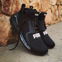 The name Puma is very important in the world of sports shoes and sneakers. Mens Puma Shoes, Puma Sneakers, Shoes Sneakers, Shoes Heels, Black Puma Shoes, Cute Shoes, Me Too Shoes, Puma Slippers, Puma Ignite Limitless