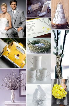 A Spring Gray and Yellow Wedding - Brenda's Wedding Blog - unique daily wedding blogs from Best Wedding Sites for brides & grooms
