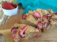 Gluten Free Strawberry Scones   http://www.fearlessdining.com   #glutenfree #dairyfree #scones