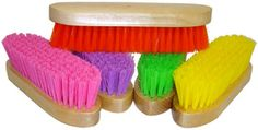 Saddles Tack Horse Supplies - ChickSaddlery.com Body and Face Brush <>  Colors... Pink. Lime Green. or Red