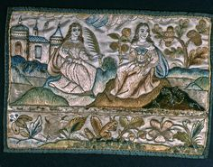 Embroidered Panel For Casket, 17th century