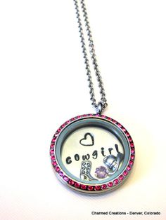Floating Charm Locket Necklace by CharmingLifeLockets, $38.00