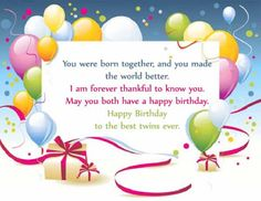 Happy Birthday Wishes Images With Quotes And Text Messages For Twins Boys Girl