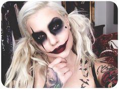 If Bailey were Harley Quinn  #harleyquinn #makeup #halloweenmakeup #nomakeupselfie