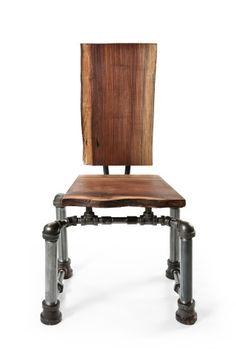Steampunk punk armless chair