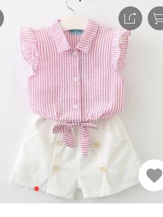 Keelorn Girls Clothing Sets 2017 Summer Fashion Style Kids Clothes Sleeveless Striped T-shirt + Plaid shorts Suit Kids Baby Girl Shirts, Baby Girl Dresses, Shirts For Girls, Baby Dress, Vest Outfits, Baby Outfits, Short Outfits, Kids Outfits, Cheap Baby Clothes