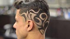 Hair Tattoo Men, Hair Tattoos, Shaved Hair Designs, Graffiti Tattoo, Faded Hair, Hair Art, Tribal Tattoos, Shaving, Hair Styles