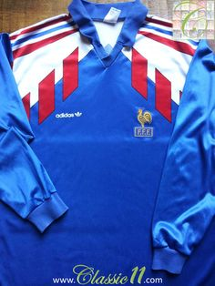 Relive France's 1990/1991 international season with this vintage Adidas home long sleeve football shirt.