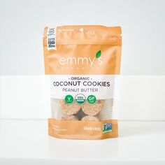 Buy again! Emmy's Organics Coconut Peanut Butter Cookies