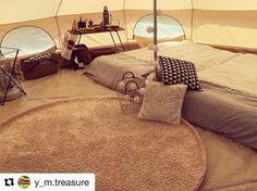 @y_m.treasure さんphoto✨ アスガルドの曲線と ラウンド型のラグで可愛く❤️ センターポールのディスプレイも合わさって可愛いのに、 大人感漂うのは抑えたれた色味のおかげ✨ *** ** #キャンプ #アスガルド #グランピング #オシャレキャンパー #ラウンドラグ #エアベッド #ノルディスク #冬キャンプ #キャンプギア #私の部屋 #可愛い #ストーブガード #レインボーストーブ #まったり #camping #nordisk #asgard #campgear #glamping #instajapan