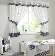 Contemporary valances for kitchen windows curtains modern window curtain ideas ceramic tile wall white dining table . Modern Kitchen Curtains, Kitchen Curtains And Valances, Small Window Curtains, Home Curtains, Colorful Curtains, Curtain Room, Kitchen Windows, Small Windows, Colorful Decor