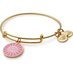 Spiral Sun Charm Bangle Breast Cancer Research Foundation ($38) ❤ liked on Polyvore featuring jewelry, bracelets, accessories, adjustable bangles, polish jewelry, expandable bangles, spiral jewelry and charm bangle