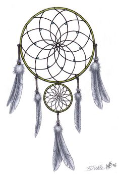 dream catcher drawings | Laceys Dreamcatcher by ~ballpointmaster on deviantART