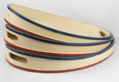 Set of 3 Cape Cod Wood Oval Serving Trays $24 (3 pieces) - great site for all kinds of great home and event decor