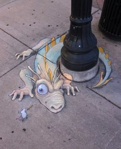 STREET ART UTOPIA » We declare the world as our canvas Chalk Art by David Zinn 27 » STREET ART UTOPIA