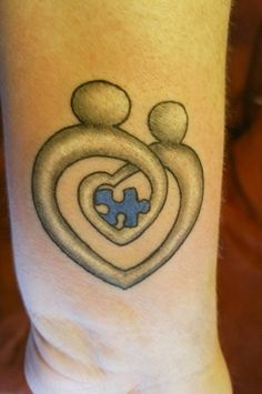 Autism Mother and Child tattoo