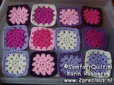 Tutorial - Comfort Quilt - Granny Square haken nederlands patroon