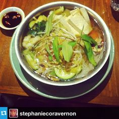 Pho - vegan, gluten free on request. Instagram by @stephaniecorravernon Pho, Soup, Gluten Free, Vegan, Ethnic Recipes, Instagram, Glutenfree, Sin Gluten, Soups