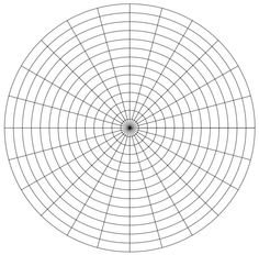 Polar Graph Paper Divisions Each  Degrees   Pinteres