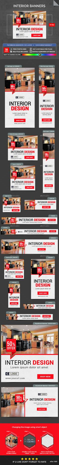 Interior Banners Template PSD. Download here: http://graphicriver.net/item/-interior-banners/16583936?ref=ksioks