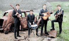 """@ColoredHistory-Historical black and white photos colorized and restored. Curated by @whizzpast- """"Beatles, 1962. """""""