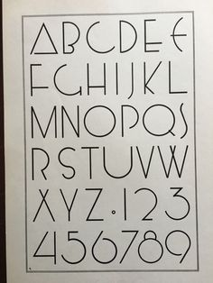1938 Art Deco Lettering Print Alphabet Numbers Typography Ready to Frame | eBay