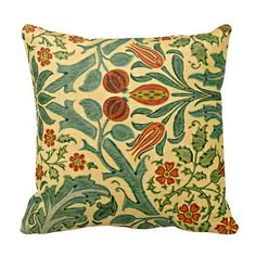 William Morris - Autumn Flower pattern - Throw Pillow - beautiful!