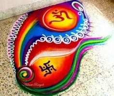 Easy Rangoli Designs Videos, Easy Rangoli Designs Diwali, Rangoli Designs Latest, Simple Rangoli Designs Images, Free Hand Rangoli Design, Rangoli Border Designs, Small Rangoli Design, Rangoli Patterns, Rangoli Ideas