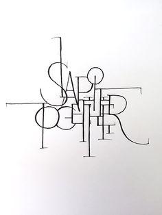 Slap it Together Handwritten typography 6.14.15