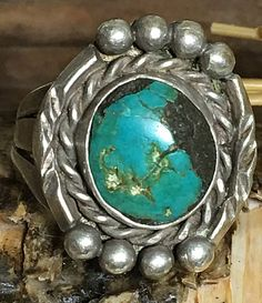 Turquoise Navajo Ring sterling Silver vintage