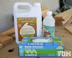 mélange huile de lin - essence de térébenthine