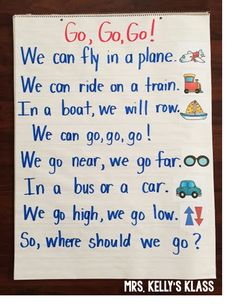 Transportation Poem and other Fun Ideas! - KinderLand Collaborative - Transportation Poem and other Fun Ideas! Kindergarten Poems, Preschool Songs, Preschool Themes, Preschool Lessons, Preschool Crafts, Senses Preschool, Transportation Theme Preschool, Childhood Education, Literacy
