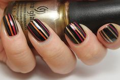 OMG! Polish 'em!: Instagram Revisited Part V: Stripes Inspired by Makeup