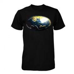 The classic Batman logo over a sonar print £20.99.