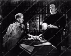 photo Ernest Thesiger Boris Karloff film The Bride of Frankenstein 2069-20