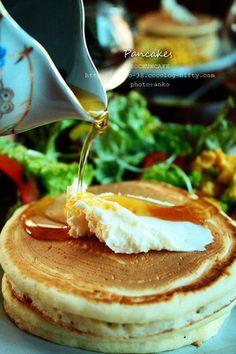 木曜日のパンケーキの朝食ふたたび!|レシピブログ あんこさん 酵母パンケーキ♪美味しそう♪