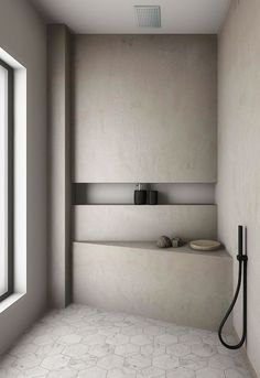 Special Concrete finishes By Evolve India - Modern Bad Inspiration, Bathroom Inspiration, Home Decor Inspiration, Bathroom Inspo, Decor Ideas, Remodeling Mobile Homes, Home Remodeling, House Renovations, Kitchen Renovations