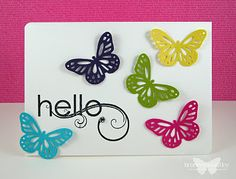 card by Bronwyn Eastley... Martha Stewart punched butterflies.... see 2 more in her post
