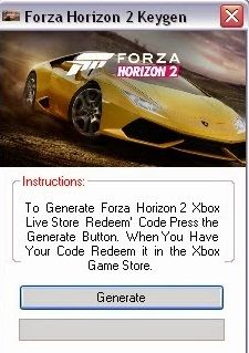 Forza Horizon 2 Crack and Serial Keygen No Password Free Download