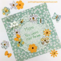 Mother's Day craft using scrapbook supplies suitable for all ages. A crafting project guaranteed to make any mother or grandmother feel special. Flower Activities For Kids, Mother's Day Activities, Scrapbook Supplies, Scrapbook Paper, Complimentary Colors, Mothers Day Crafts, Feeling Special, Sticker Paper, Accent Colors