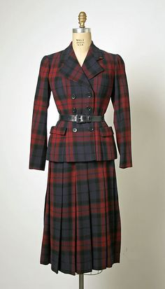 Balenciaga wool suit, 1949-50