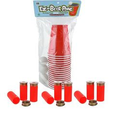 This beer pong and shot gun shooter kit is great for bachelor parties, house parties, or any other fun adult activity.